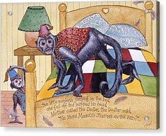 Jumpin Monkeys Acrylic Print by Victoria Heryet