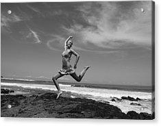 Jumping Acrylic Print by Cesar Marino