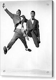 Jumping Jacks, Dean Martin, Jerry Acrylic Print by Everett