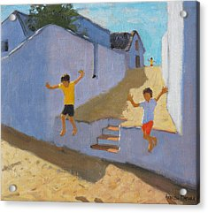 Jumping Off A Wall Acrylic Print by Andrew Macara