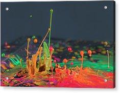 Explosive Paint Acrylic Print