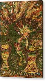 Jumpinjack Flash Kokopelli Acrylic Print by Anne-Elizabeth Whiteway