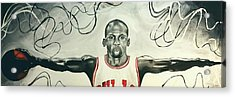 Jumpman  Acrylic Print by Lawrence Saunders