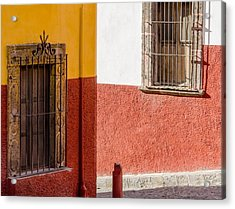 Junction Of Streets And Walls. Acrylic Print