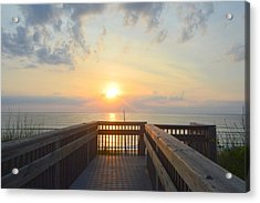 Acrylic Print featuring the photograph June 17th Sunrise by Barbara Ann Bell
