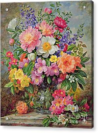 June Flowers In Radiance Acrylic Print by Albert Williams