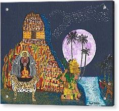 June  Shaman And Priestess  Acrylic Print