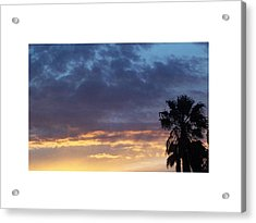 June Sunset  In Las Vegas Acrylic Print by Patricia  Williams