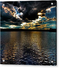 Acrylic Print featuring the photograph June Sunset On Nicks Lake by David Patterson