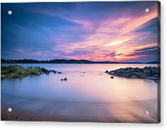 June Sunset On The River Acrylic Print