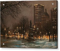 Juneau Park Milwaukee Acrylic Print by Tom Shropshire
