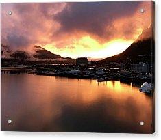 Juneau Sunset Acrylic Print