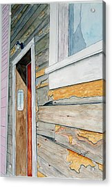 Juneau Townhouse Acrylic Print by Larry Wright