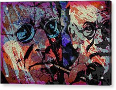 Jung And Freud Acrylic Print