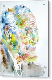 Jung - Watercolor Portrait.4 Acrylic Print