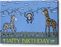 Jungle Animals Happy Birthday Acrylic Print