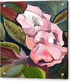Jungle Floral Acrylic Print by Janet Doggett