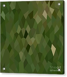 Jungle Green Abstract Low Polygon Background Acrylic Print by Aloysius Patrimonio
