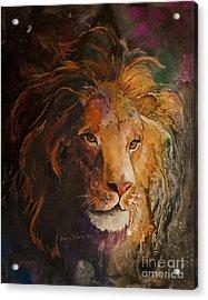 Jungle Lion Acrylic Print by Sherry Shipley