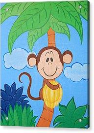 Jungle Monkey Acrylic Print