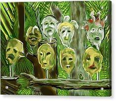 Acrylic Print featuring the digital art Jungle Spirits by Jean Pacheco Ravinski