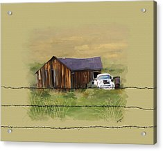 Acrylic Print featuring the painting Junk Truck by Susan Kinney
