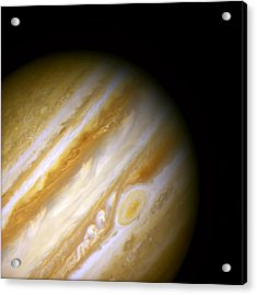 Jupiter And The Great Red Spot Acrylic Print by Jennifer Rondinelli Reilly - Fine Art Photography