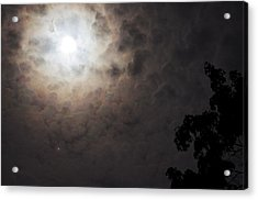 Jupiter And The Moon Acrylic Print by Don Youngclaus