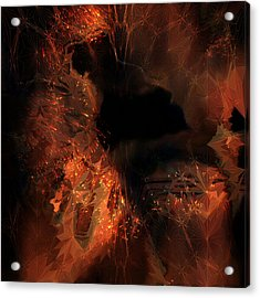 Acrylic Print featuring the digital art Jupiter Cave by Vadim Epstein