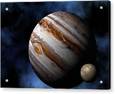 Acrylic Print featuring the digital art Jupiter by David Robinson
