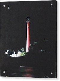 Jupiter Lighthouse At Night Acrylic Print