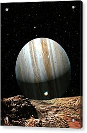 Jupiter Seen From Europa Acrylic Print