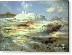 Jupiter Terrace Acrylic Print by Thomas Moran