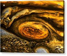 Jupiter's Storms. Acrylic Print