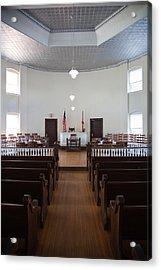Jury Box In A Courthouse, Old Acrylic Print
