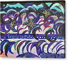 Just A Little Night Mosaic Acrylic Print by Anne-Elizabeth Whiteway