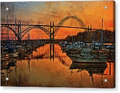 Just After Sunset On Yaquina Bay Acrylic Print