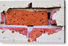 Just Another Brick In The Wall Acrylic Print by Josephine Buschman