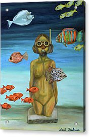 Acrylic Print featuring the painting Just Breathe by Leah Saulnier The Painting Maniac