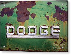 Acrylic Print featuring the photograph Just Dodge by Terry Rowe