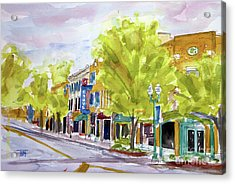 Just Down The Street Acrylic Print by Tim Ross