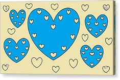 Just Hearts 4 Acrylic Print