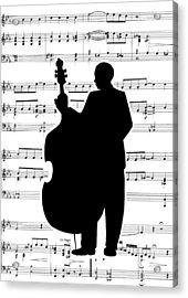 Just Jazz - Double Bass Acrylic Print by Di Kaye