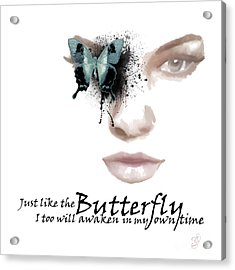 Just Like The Butterfly Acrylic Print