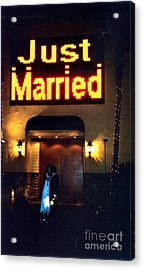 Just Married Acrylic Print by Andrea Simon