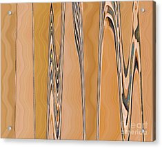 Just Planed Marbled Woodgrain				 Acrylic Print by Ann Johndro-Collins