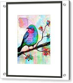 Just Playing Around With My Birdie Acrylic Print