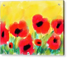 Just Poppies Acrylic Print