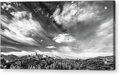 Acrylic Print featuring the photograph Just The Clouds by Jon Glaser
