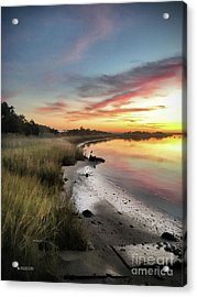 Just The Two Of Us At Sunset Acrylic Print